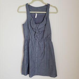 Jean dress ruffle front Target